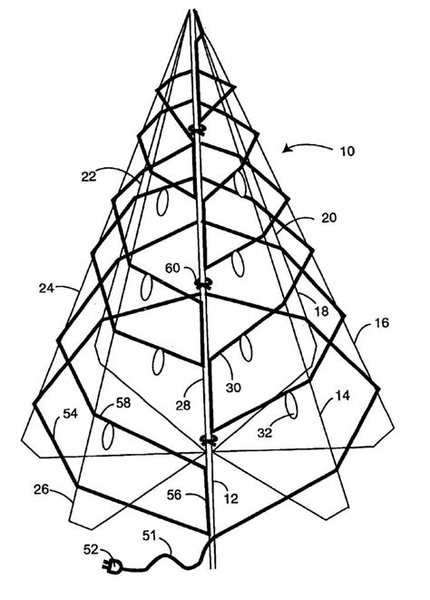 xmas tree structure outline of tree coloring home