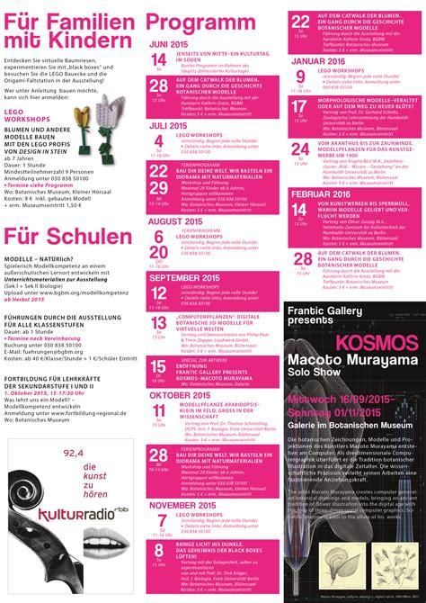 Berlin Botanischer Garten Programm by Rahmenprogramm Bgbm