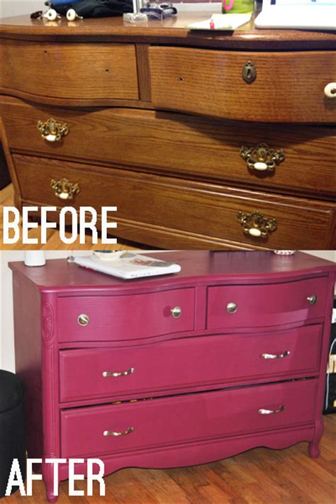 diy dresser nightstand makeover sangria colored paint