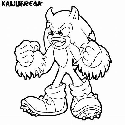 Sonic Coloring Hedgehog Knuckles Printable Pages Characters