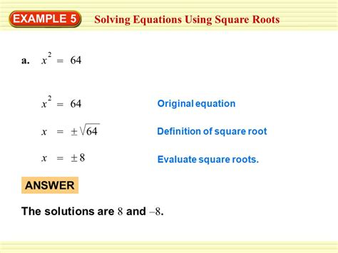 Example 4 Using A Square Root Equation Amusement Parks  Ppt Video Online Download