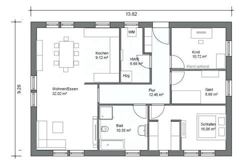Grundriss Bungalow 140 Qm by Bungalow Mit Einliegerwohnung Grundriss Und Garage