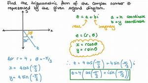 Video  Finding The Polar Form Of Complex Numbers Represented On The Argand Diagram