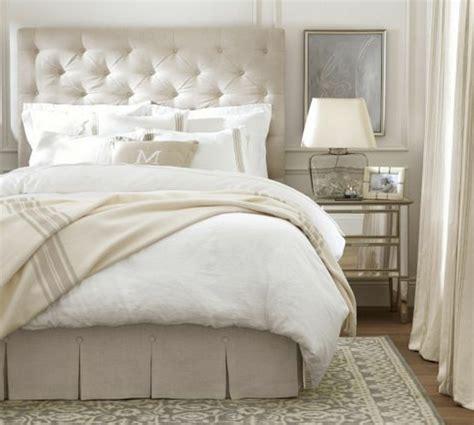 chambre blanche et beige les meilleures variantes de lit capitonné dans 43 images
