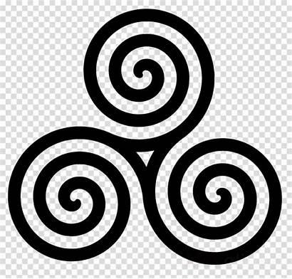 Celtic Spiral Clipart Triskelion Transparent Triple Cross