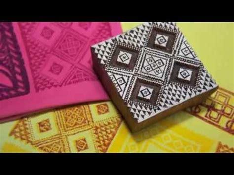 african art fabric design  block printing youtube