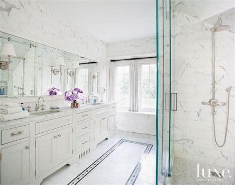 master bathroom shower floor mosaic detail white marble master bathroom with mosaic tile floor detail