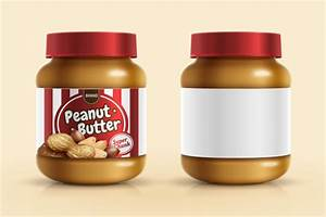 Jar with peanut butter vector free download