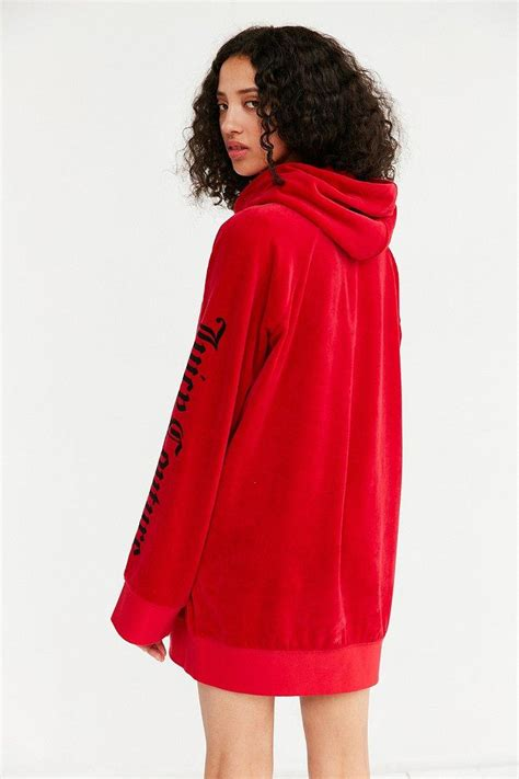hoodie fiorentina 6 couture for uo oversized velour hoodie in lyst