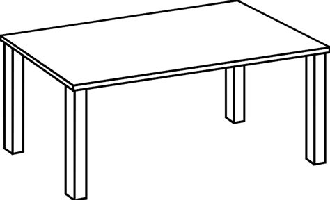 Table Clipart Black And White Clipart Panda Free