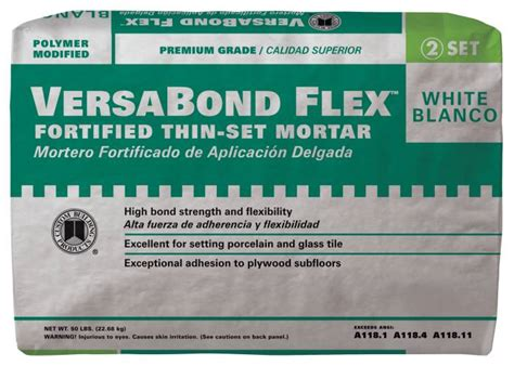 custom building products vbfw50 versabond flex thin set