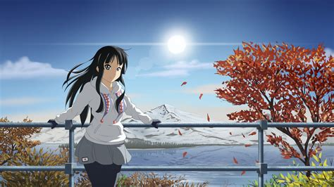 wallpaper anime mio akiyama girl beauty  art