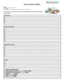 Printable Potluck Sign Up Sheet Template
