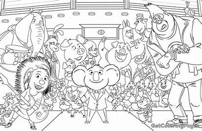 Sing Colouring Coloring Pages Printable Rosita Info