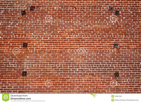 brick wall steel support stock photography image