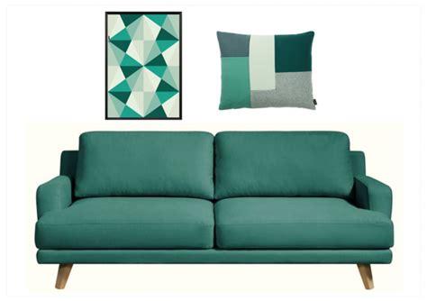 plaid blanc pour canapé la déco vert émeraude joli place