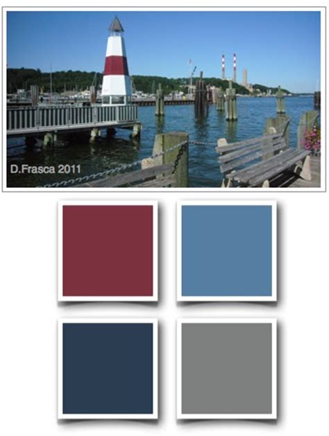 a color specialist in nautical colors of port jefferson island