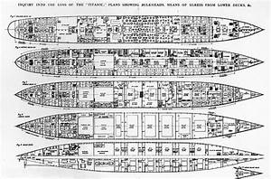 Inquiry In The Loss Of The Titanic Cross Sections Of The ...