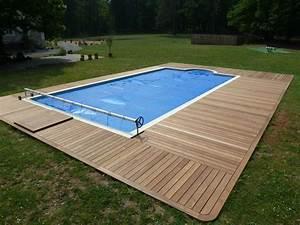 terrasse bois piscine ma terrasse With plage piscine sans margelle 7 bardage bois exterieur amenagement exterieur bois