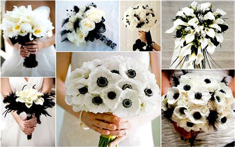 Black and White Wedding Bouquets   Ideas, Images 2017
