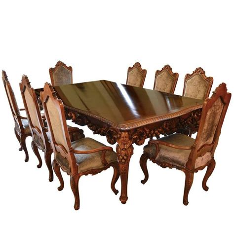 italian dining room tables antique italian dining room set with table chairs buffet