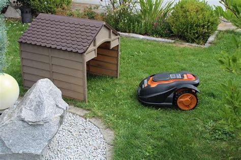 Rasenroboter Garage Dach Überdachung Kunststoff Neuheit