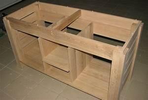 Meuble De Salle De Bain En Bois Massif : meuble de salle de bain en chene ~ Edinachiropracticcenter.com Idées de Décoration