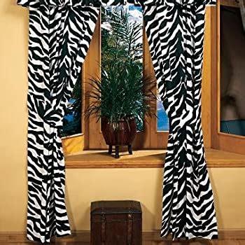 amazoncom zebra animal curtain set  valancesheer