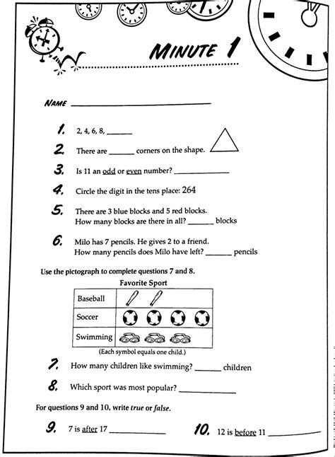 fourth grade math minutes homeshealth info