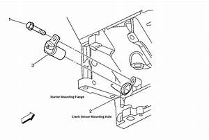 Where Is The Crankshaft Position Sensor Located On A 2001 Silverado Hd With