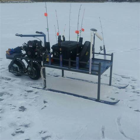motorized smitty sled ice fishing ice fishing sled