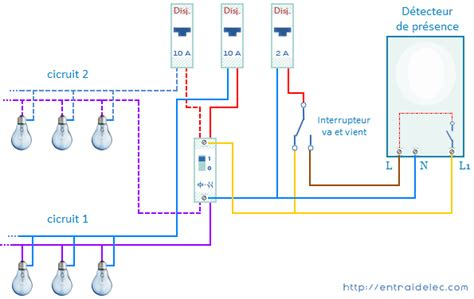 schema electrique eclairage exterieur 201 clairage par d 233 tecteur de mouvement pr 233 sence zonetronik