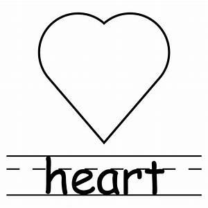 Clip Art: Shapes: Heart B&W Labeled | abcteach