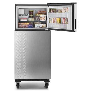 garage refrigerator reviews gladiator top freezer refrigerator 19 0 cu ft garf19xxyk