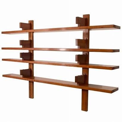 Wall Mounted Shelves Wooden Bookshelves 1950s Chapo