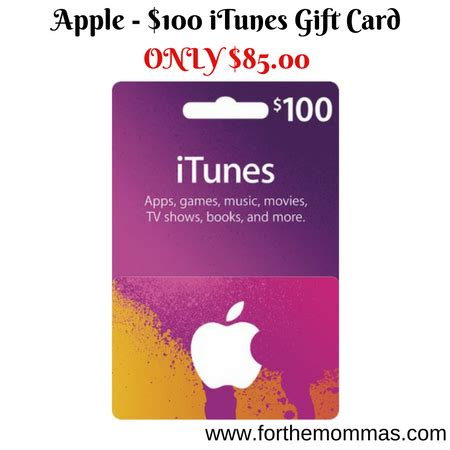 apple 100 itunes gift card only 85 00 shipped