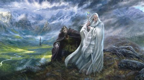 Lord Of The Rings 1920x1080 Wallpapers Lord Of The Rings Lotr Wizard Painting Wallpaper 1921x1080 282022 Wallpaperup