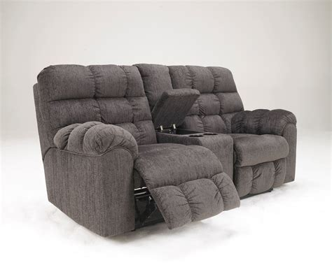 double seat reclining sofa double recliner sofa with console furniture loveseat with