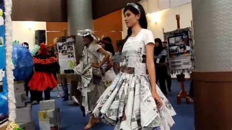edp  paper dress fashion show youtube