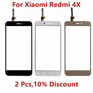Phone Touch Panel For Xiaomi Redmi 4x Touch Screen Digitizer Glass Panel Sensor Front Lens For