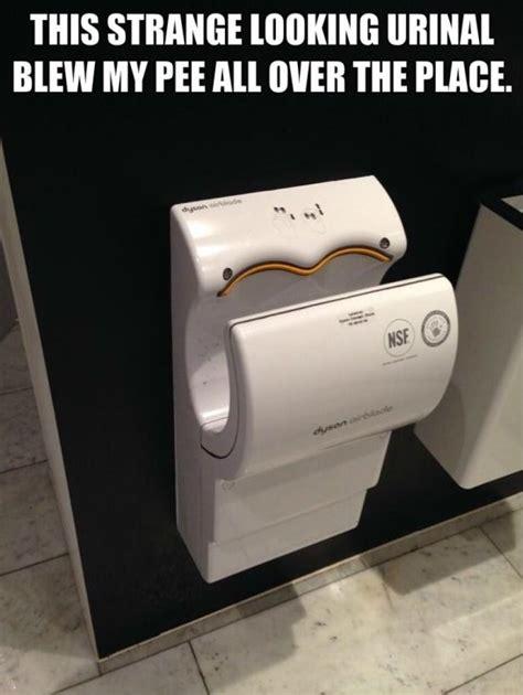 Hand Dryer Meme - funny strange looking urinal meme
