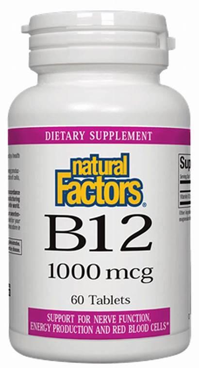 Factors Natural B12 Vitamin Cyanocobalamin Mcg Tabs