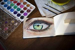 Water Color Eye  First Attempt Following A High Speed
