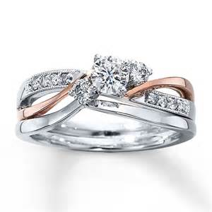 kays jewelry engagement rings bridal set 3 8 ct tw cut 14k two tone gold