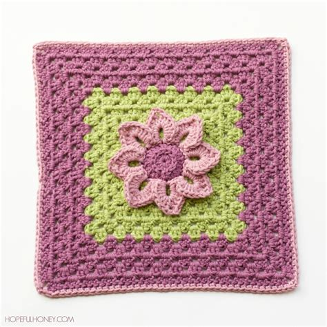 crochet squares water lily afghan square interweave