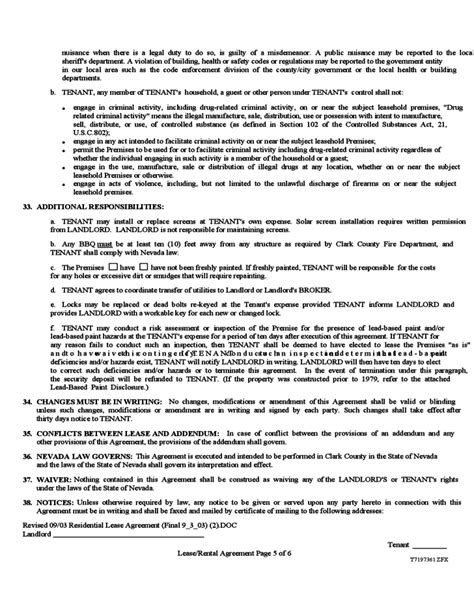nevada month  month rental agreement form