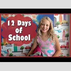 Back To School Parody  12 Days Of School Youtube