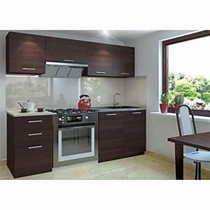Küche 180 Cm : justhome economy klein k chenzeile k chenblock k che 180 cm l nge farbe kastanie m bel24 k chen ~ Watch28wear.com Haus und Dekorationen