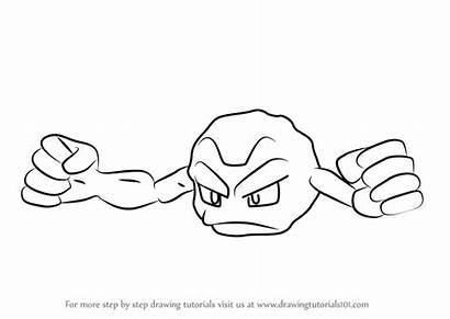Geodude Pokemon Draw Drawing Step Drawingtutorials101 Games