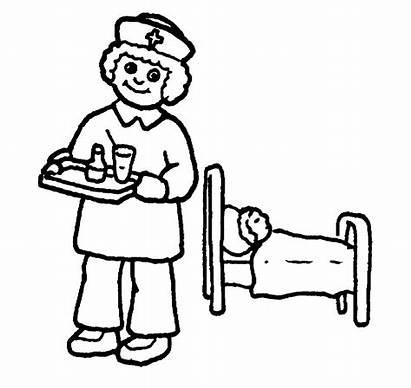 Nurse Coloring Nurses Pages Clipart Cartoon Tools